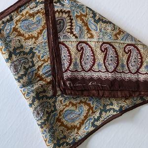 Anne Klein silk scarf rectangular paisley art deco